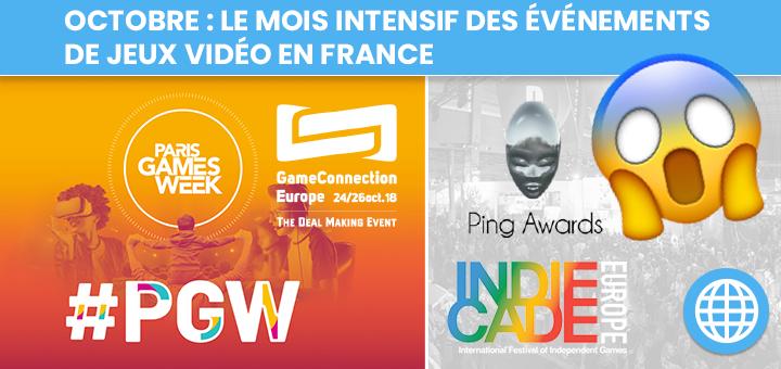 Octobre : Le mois intensif des événements de jeux vidéo