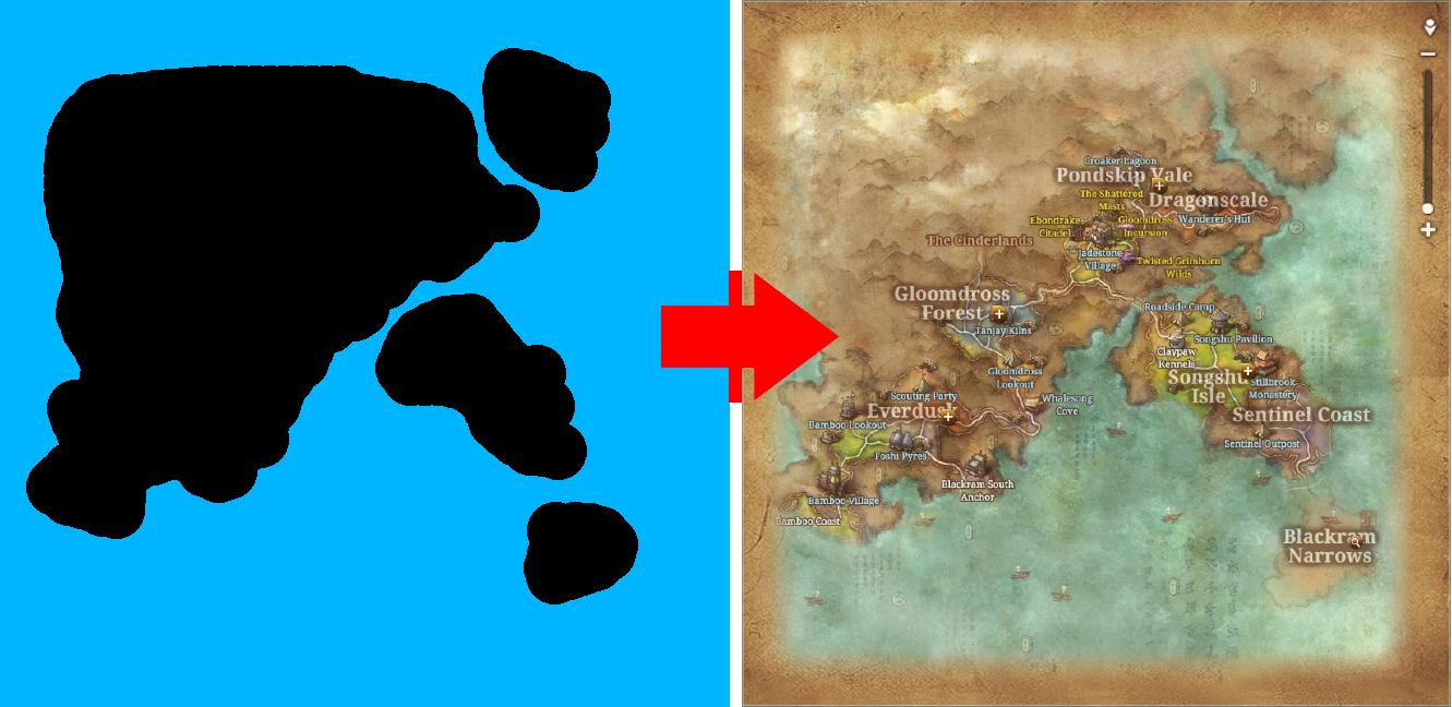 Carte du monde d'un MMORPG