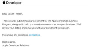apple store small business program email